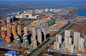 There are more than 200 eco-city projects in China today, such as this one in the city of Tianjin in northern China (Image: Alamy)