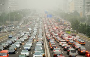 heavy traffic in Beijing