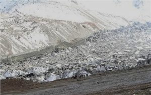 glacier collapse in Xinjiang