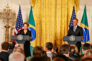 US-Brazil climate pledge: Presidents Dilma Rousseff and Barack Obama