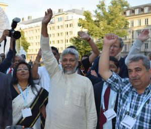 Rajendra Singh, this year's winner of the Stockholm Water Prize, who is campaigning against increased corporate control of water