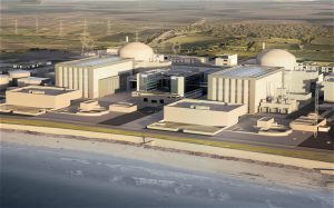 A computer-generated image of the Hinkley C power plant that would be partly-financed by China (Image byEDF Media Centre)