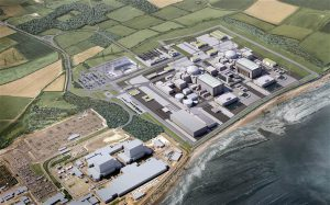A computer generated image of the planned new reactor at Hinkley, western England, which many observers now view as an expensive folly (Image by EDF Energy Media)