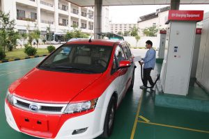 A lack of standardised charging points in China is cited as one of the main reasons why low carbon motoring has struggled to shift gear in the world's biggest car market (Image byRemko Tanis)