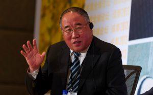 Xie Zhenhua waving