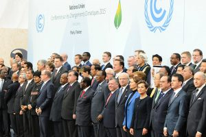 Heads of government at the start of the climate talks on Nov 30. The legal nature of the treaty is likely to be one of the dominant themes this week as environment ministers try and make progress on a draft text. Pic