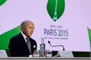 Laurent Fabius at COP21 Paris 2015