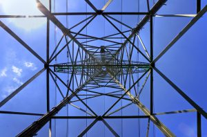 upside down view of power grid