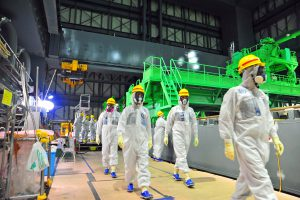 IAEA experts visiting Tepco's strickenFukushima Daiichi Nuclear plant in2013(Image by