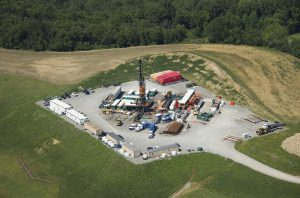 Fracking rigs like this one in Butler County, Pennsylvania, dot the landscape across western Pennsylvania (Image: Alamy)