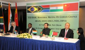 Representatives from Brazil, South Africa, India and China at last week's meeting