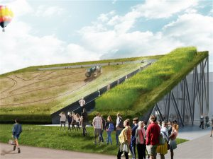 Concept image of a green roof project (Image by New Holland)