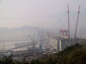 China's Three Gorges dam, the world's largest, which has triggered several landslides in Hubei province.