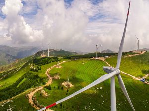 A wind farm in Shaanxi province in northern China