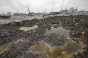 Industrial pollution of land inChina