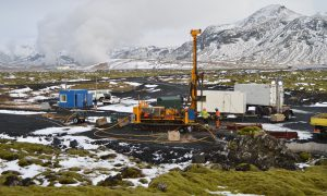 Site close to the Hellisheidi geothermal powerplant, where CO2 was injected into volcanic rock. In two years it was almost completely mineralised. Image byJuerg Matter/Science