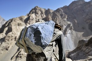 Afghanistan's lapis lazuli mines have been taken over by illegal armed groups who fund themselves by selling the precious stone / (Image by Philip Poupin)