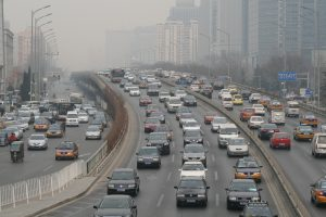 Traffic exhaust remains Beijing's main source of fine particulate and nitrogen dioxide pollution, which causeasthma and lung damage /(Image by poeloq)