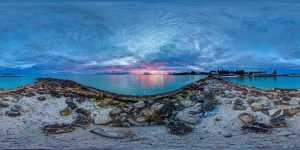 太平洋岛国基里巴斯仅高于海平面数米,由于海平面上涨面临被淹没的危险。图片来源:Nick Hobgood