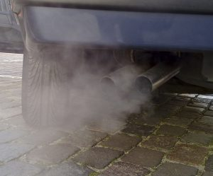 automobile exhaust contributing to air pollution
