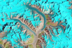 The Karakoram glaciers on the edge of the Tibetan Plateau (image courtesy earthobservatory.nasa.gov)