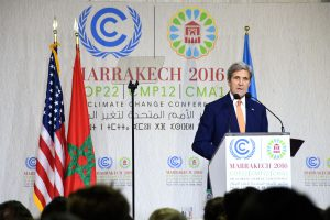 US Secretary of State, John Kerry, addressing attendees at the UN climate summit in Marrakech, Morocco. (Image by US Department of State)