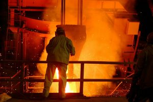 Steel mill in China, industrial overcapacity