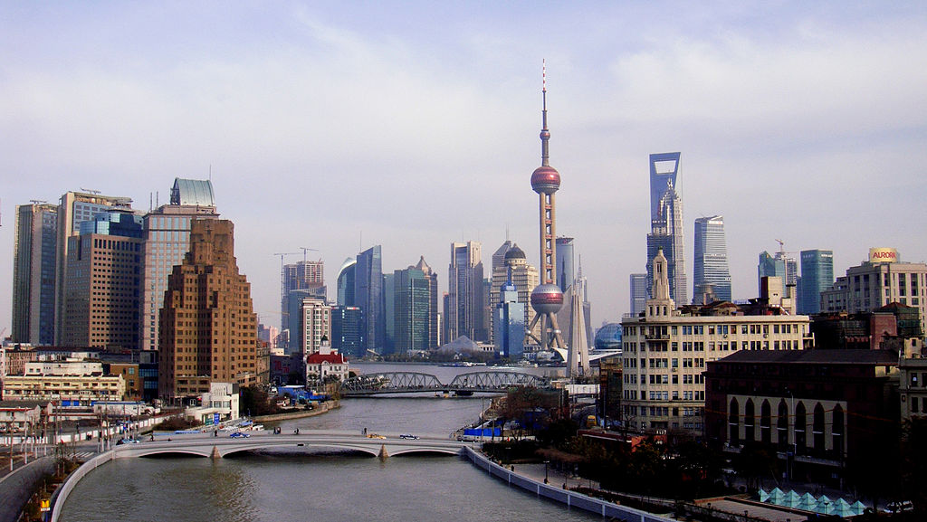 A view of the Suzhou Creek, Shanghai. (Image byLegolas1024)