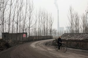 Linfen coal fired power plant which is contributing to pollution