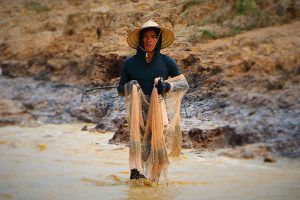 Tonlé Sap fisherman in Cambodia
