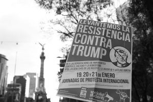 An anti-Trump protest in Mexico City (Image byAdrian Martinez)