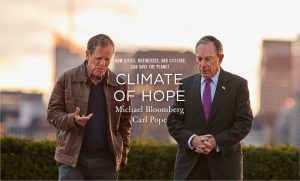 Climate of Hope, a new book co-authored by Carl Pope and former New York mayor Mike Bloomberg was published last week (Image: climateofhope.com)