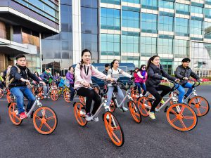 The arrival of bike-sharing schemes has seen congestion in Beijing drop 7.4% (Image: Mobike)