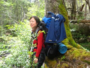Gao Shan pictured hiking (Image: Author)