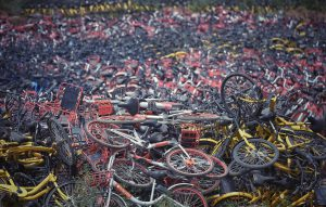 Cities need better infrastructure to ensure bikes don't pile up and cause a public menace (Image: Alamy)