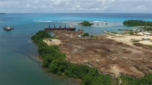 Papua New Guinea exports 85% of its logs to China (Image: Global Witness)