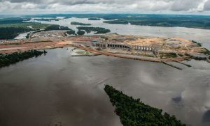 The Belo Monte Dam under construction on the Xingu River, a tributary of the Amazon, in 2015.(Image: FabioNascimento/Greenpeace )