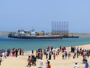 图为2010年的马加普拉·马欣达·拉贾帕克萨港。图片来源:Dhammika