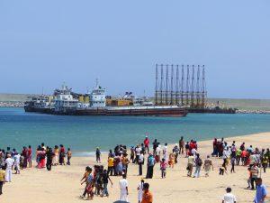 The Magampura Mahinda Rajapaksa Port pictured in 2010 (Image:Dhammika Heenpella)