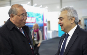 Xie Zhenhua, China's special representative for climate change affairs and Dr Fatih Birol, executive director of the IEA at the UNFCCC climate talks inBonn(Image:IEA)