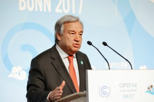 Secretary-General of the United Nations, MrAntónio Guterres in Bonn(Image: