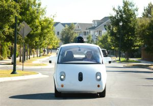 A Google self-driving car. Eliminating drivers from cars whilst keeping everything else about road transport the same could worsen congestion in cities(Image: Waymo)