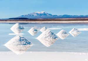 Bolivians have mined salt on the Salar de Uyuni lake for generations. It is now a site of lithium extraction (Image: Xeni4ka/Thinkstock)