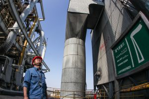 A worker at a power plant in Tianjin, in China's industrial north-east (Image: Asian Development Bank)