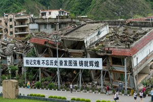 Debris from the Wenchuan earthquake in Sichuan province, 2008, where tens of thousands lost their lives (Image: Stuart Isett/Fortune Global Forum)