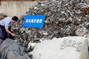 Police in Guangdong seizing illegally imported waste