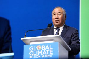 Xie Zhenhua, China's special representative of climate change affairs, speaking at the Global Climate Action Summit in California (Image: Nikki Ritcher/Global Climate Action Summit)
