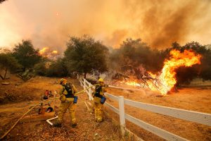 California wildfires. Adopting a 1.5C pathway could help protect millions of lives by 2050. (Image: Daria Devyatkina)