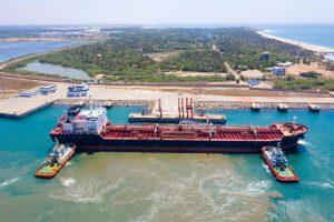 Hambantota Port is operated by China Merchant Port Holdings on a 99-year lease (Image: Alamy)