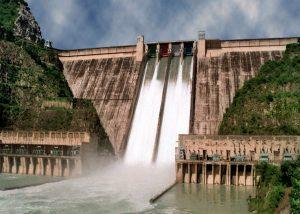 印度北部的巴克拉大坝。图片来源:WRIS